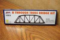 Atlas N Scale Through Truss Bridge Kit Code 80 Black Nickel Silver Rail