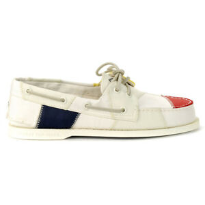 Sperry-Top-Sider-Men-039-s-Original-Bionic-White-Multi-Boat-Shoes-STS19372-NEW