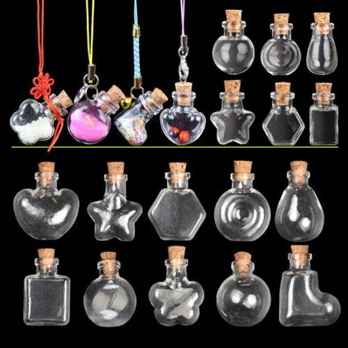 Cute Mini Cork Stopper Glass Vial Jars Containers Bottle Drift Bottle 21 Styles
