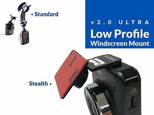 Adhesive-Windscreen-Stealth-Mount-for-Transcend-DrivePro-200-220-520-Drive-Pro
