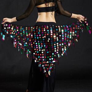 Nouveau-2019-Lady-Belly-Dance-costumes-Hip-Scarf-Wrap-ceinture-jupe-paillettes-triangle