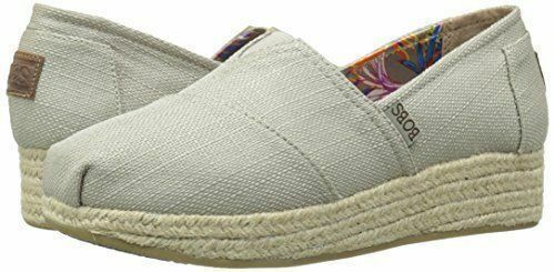 5268d79fd8e Bobs By Skechers Women's Wedge Shoes Taupe Memory Foam High Jinx Pick Size