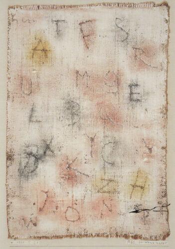 Paul Klee ABC für Wandmaler  1938 Kunstkarte