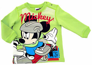 NEU-Disney-Mickey-Mouse-Stretch-Sweatshirt-Langarmshirt-Pullover-Pulli-80-86-92