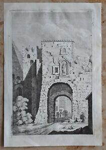 Jacopo-AMIGONI-1682-1752-Original-Kupferstich-Anno-1739-Italien-Rom-Antike-12