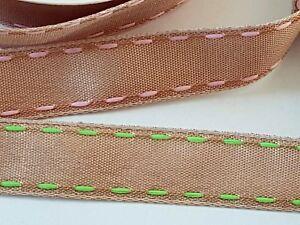 4 Mètre Rouleau marron avec selle stitch coton ruban parage 16 mm Cheveux-Artisanat-afficher le titre d`origine 0ISM8NpF-07202634-925826614