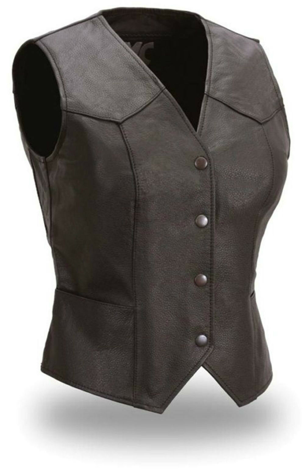 FMC Ladies Classic Fitted Snap Front Vest size Large NEW without tags