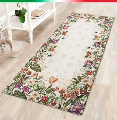 Furniture Tappeto Cucina Salotto Bagno Casa Fiorito Cuori Passatoia Antiscivolo Mod.nice1 Comfortable And Easy To Wear