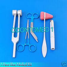 5 Piece Blue Medical Kit Diagnostic Emt Nursing Surgical Ems Student Paramedic