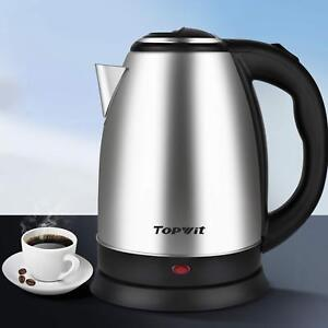 2 Liter Stainless Steel Coffee /& Tea Topwit Electric Kettle Water Heater Boiler