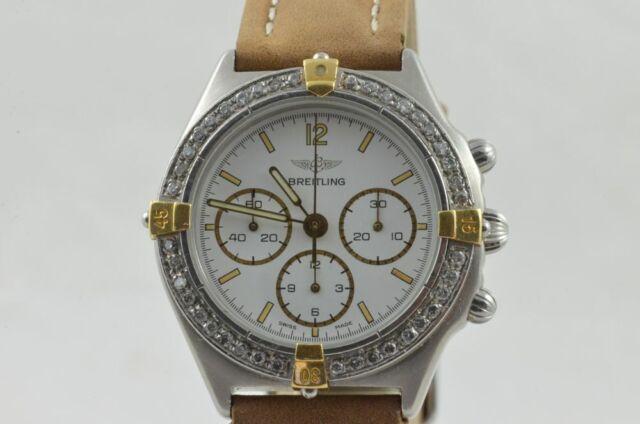 Breitling Callisto 80520 Hand Wound Men's Watch Diamonds Bezel RAR