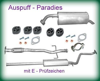 Auspuff Auspuffanlage Mittel//Endschaldämpfer für Hyundai Getz TB 1,1 1,4 ab 2005