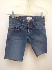 Abercrombie 14 Slim Jean Shorts Blue Denim Stretch Cutoff Girls