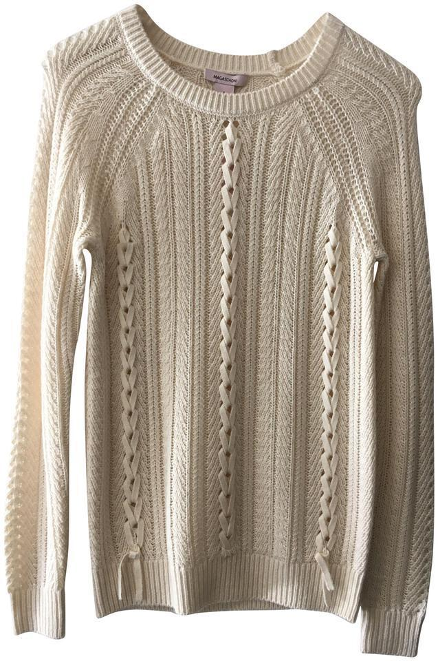 Magashoni Wool Blend Cream Sweater Small New NWT