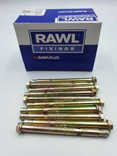 10 Rawlpug Rawlok  Anchor Bolts M6  8mm Length 100mm