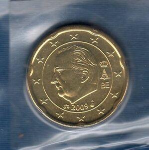 Belgique-2009-20-centimes-d-039-euro-FDC-provenant-coffret-BU-32000-exemplaires