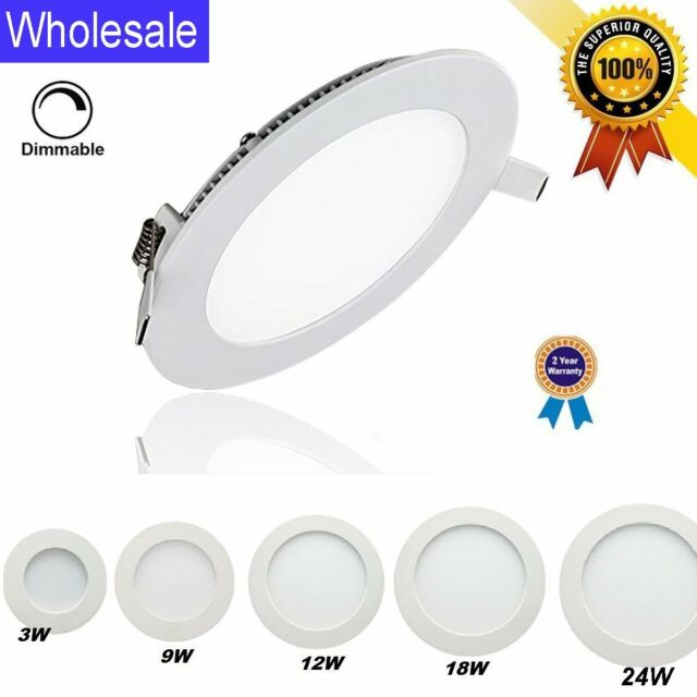 50x 6w 24w Dimmable Led Recessed Lighting Panel Ceiling Down Light Round Lamps B