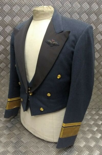 Genuine Ex- Royal Air Force Avm Air Vice-marshal Mess Dress Jacket & Waistcoat Asciugare Senza Stirare