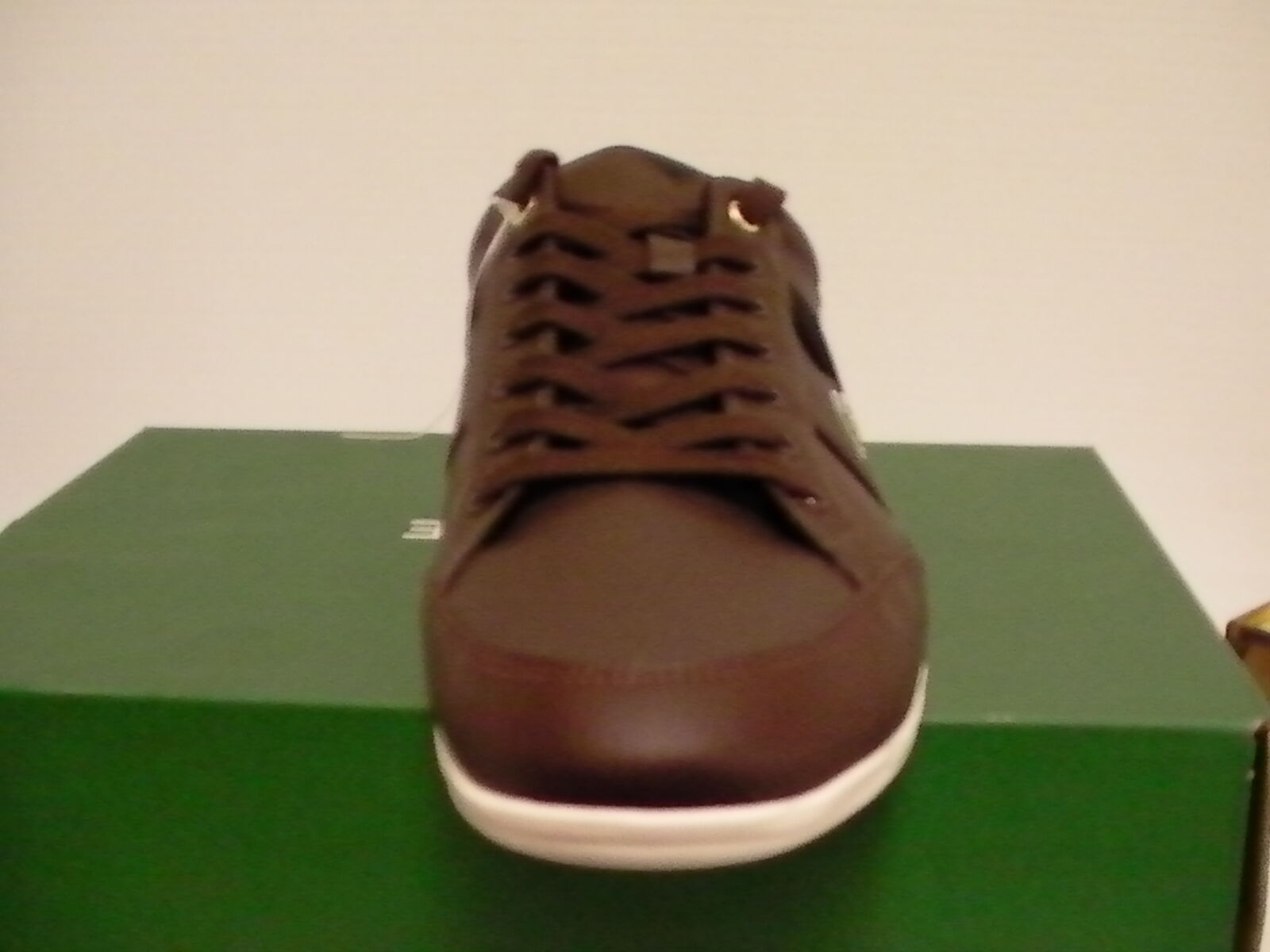 Lacoste shoes chaymon cr cr chaymon us spm leather dark brown black size 7.5 new with box 9d6b24
