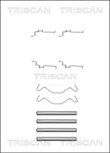 TRISCAN Zubehörsatz vitres Plaquette De Frein Disques de frein arriere 8105 131638