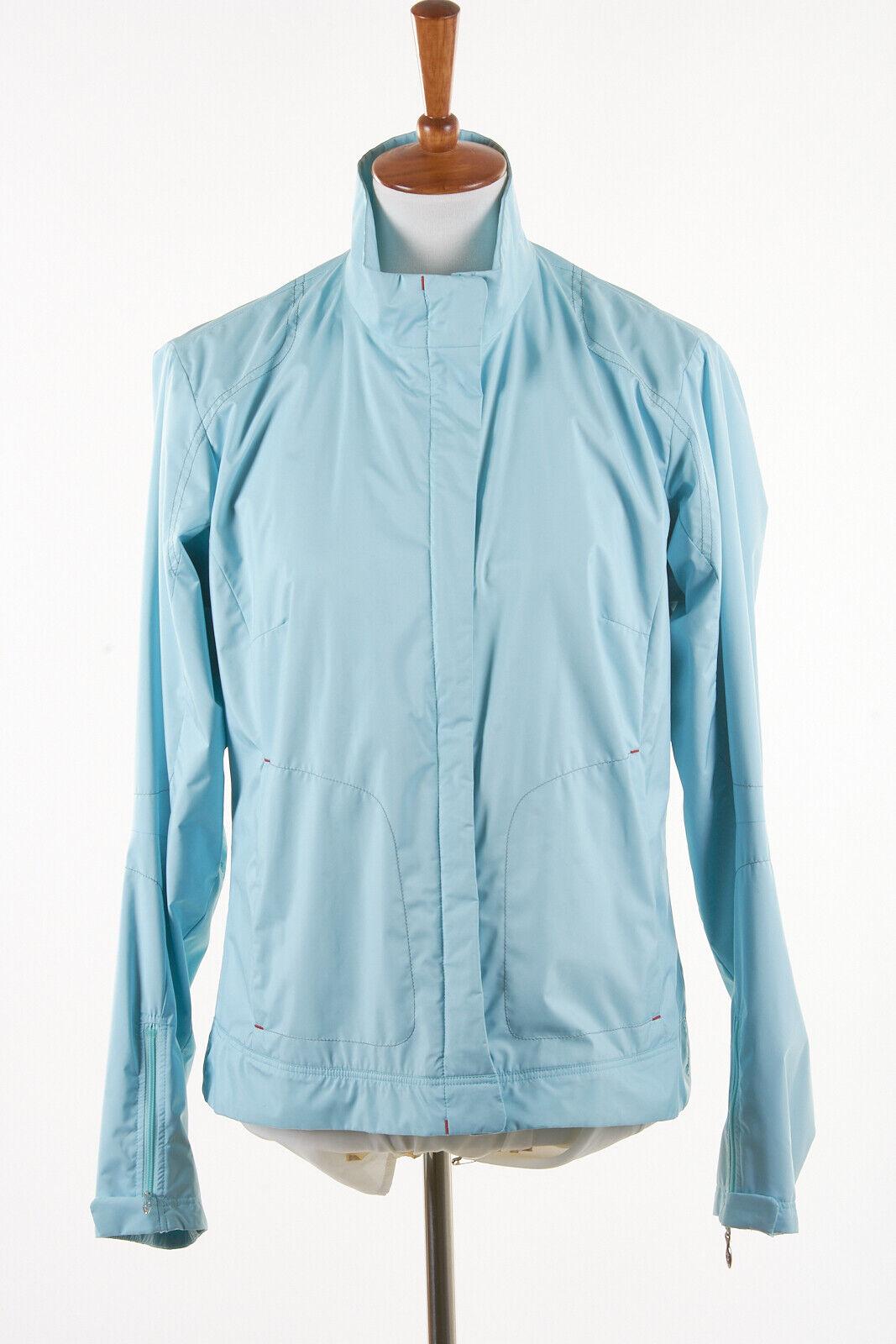 Womens BOGNER Jacket 10 in Sky Aqua Blue Polyester Full-Zip Windbreaker Shell
