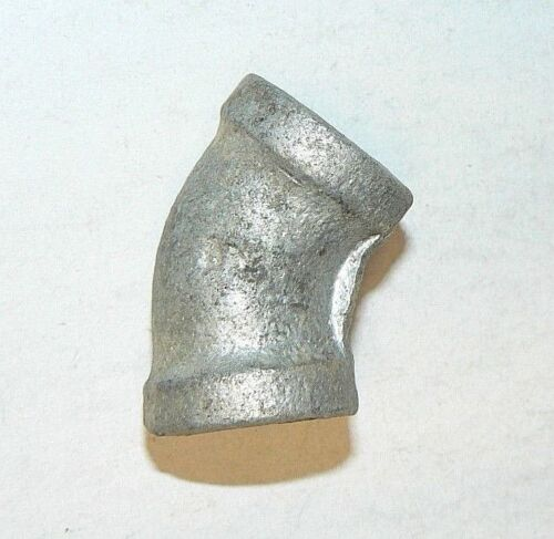 """Pipe Elbows Details about  /1//4/"""" X 45 Degree NPT Galv Lot of 6 Pcs."""