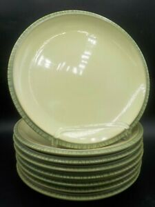 Lot-of-8-Vintage-Denby-Calm-Light-Green-9-034-Side-Salad-Plates-England