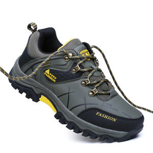 Men-039-s-Trekking-Hiking-Shoes-Athletic-Walking-Running-Sneakers-Lace-Up-Flat-Shoes