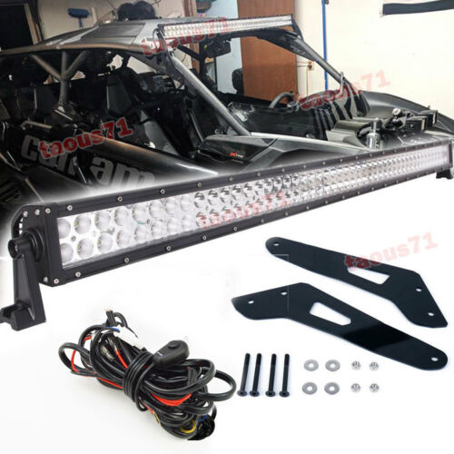 "For Can-am Maverick X3 MAX 50/""inch 288W Light Bar Roof Bracket Kit+Rocker Switch"