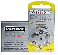 Rayovac ***Advanced*** Hearing Aid Batteries Size 10 FRESH Expire 2019 (60 pcs)