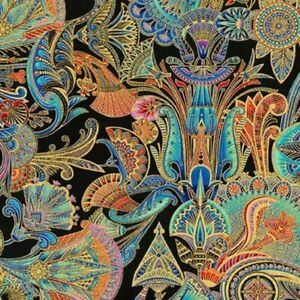 Robert-Kaufman-Treasures-of-Alexandria-18845-205-Multi-Egyptian-Theme-Fabric-BTY