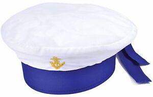 nina-nino-infantil-Blanco-Marinero-Accesorio-de-disfraz-sombrero