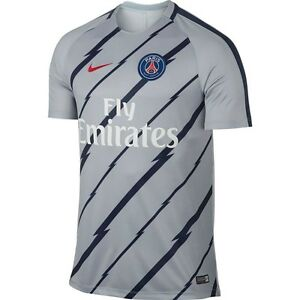 Details about Nike PSG Paris Saint German 2016 - 2017 Elite Squad Soccer  Training Jersey Grey a51737a16