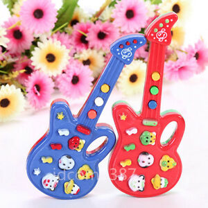 Baby Kids Electronic Guitar Educational Rhyme Developmental Music Sound Toy