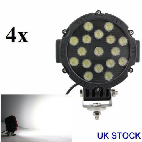 4pcs puissant 51 W Front Bull Nudge Bar Spot Lumières DEL 12 V Jour Lampe Voiture SUV 4x4