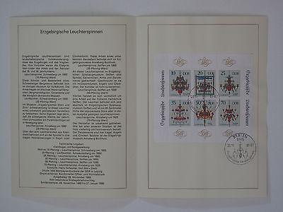 (89j30) Ddr Erinnerungsblatt 1989 Mit Esst Mi.nr. Klbg. 3289-3294 Erzgebirge