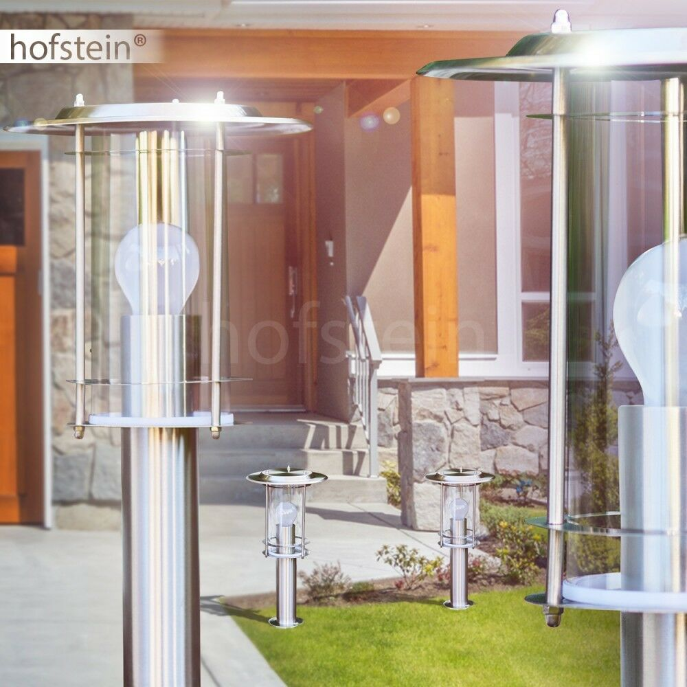 Acero inoxidable farol bolardo caminos lámpara exterior de pie lámpara de jardín iluminación Modern