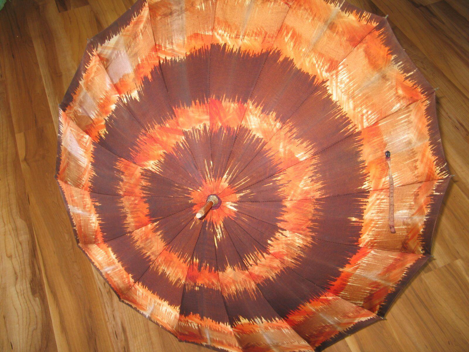 Vintage 1970s Umbrella MOD Fashion-Hippie- Boho-W… - image 7