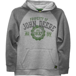 JOHN DEERE GREEN TRACTOR EMBROIDERED Kid unisex Gildan hoodie hooded sweatshirt