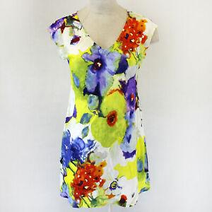 NEW-Jams-World-Cherry-Dress-Panache-Print-Hawaiian-Sundress-XL-USA-Made