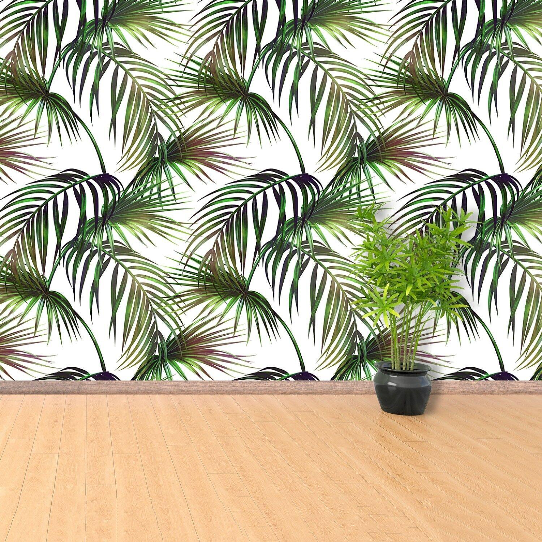 Fototapete Selbstklebend Einfach ablösbar Mehrfach klebbar Tropische Blätter