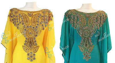 Stunning Farasha with Beautifully Detailed Stone Work - Maxi Dress Abaya Eid