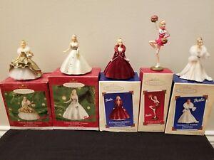 Nice Hallmark Keepsake Ornament lot of 3 Different Barbie Dolls in Box Like New See Pics