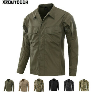 Camisa-De-Combate-Militar-Tactico-para-Hombre-de-Manga-Larga-Casual-Senderismo-camuflaje-del