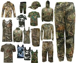 Men-039-s-hunting-RealTree-green-Camouflage-T-Shirt-Forrest-Print-Long-amp-Short-top