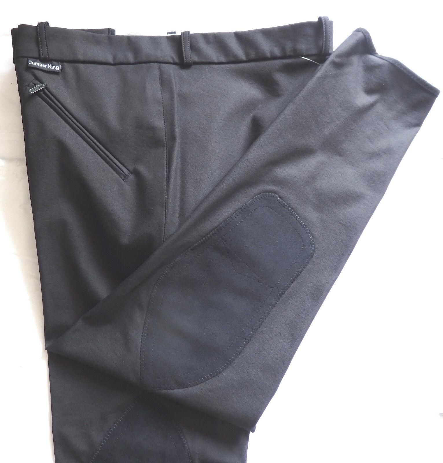Jumper King señores reithose, rodilla ribete, negro, talla  27, (d500)  saludable