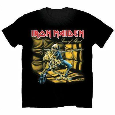 Official IRON MAIDEN Piece Of Mind T-shirt Black Sizes S to XXL Trooper Icarus