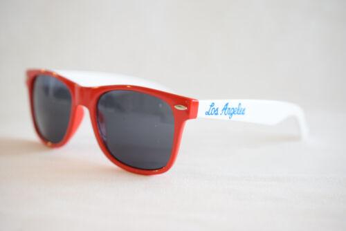Damen 378 Retro Sonnenbrille Los Angeles  rot weiss Herren u
