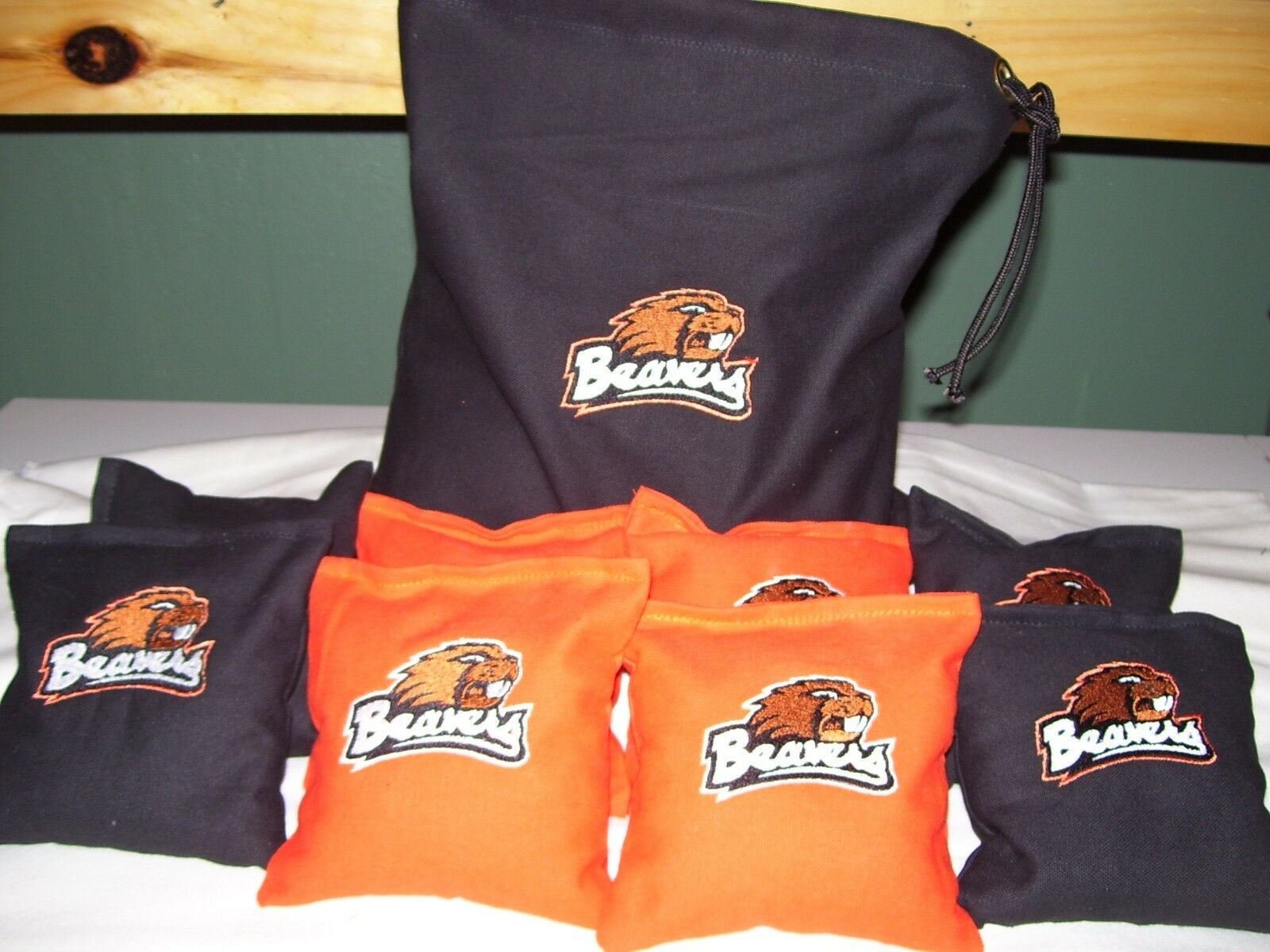 Oregon Beavers Embroidered Cornhole Corn Hole Bags With Storage  Bag  brand outlet