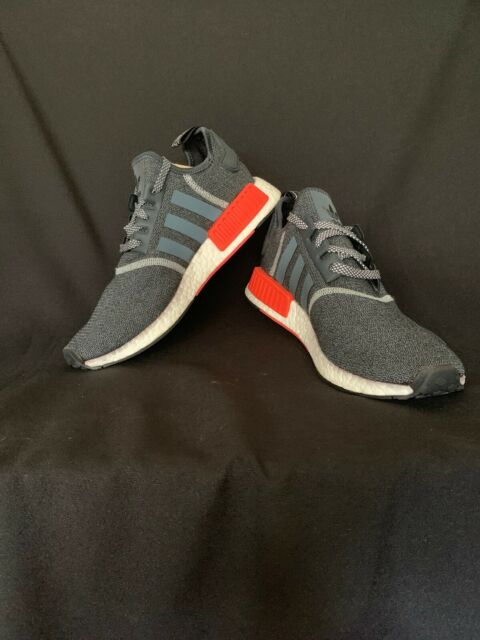 the latest 2bfc1 dae2f New Adidas NMD R1 Grey Red Wool 3M Reflective Men's Sz 10